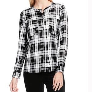 Two by Vince Camuto Shadow Check Button Down Shirt